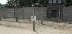 Train tracks at Auschwitz Concentration Camp near Krakow Poland