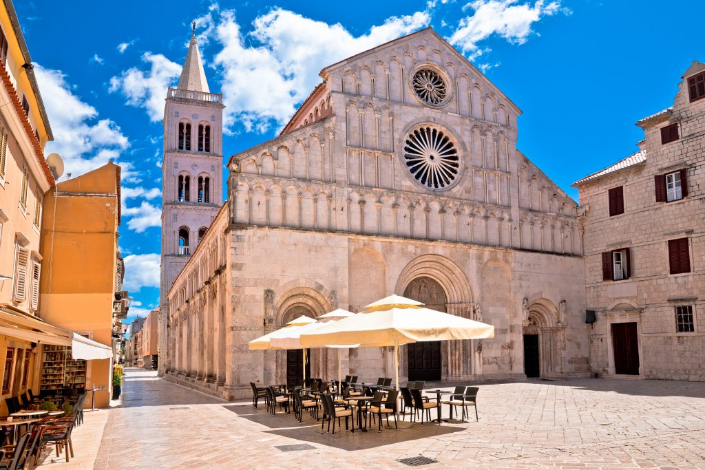 zadar cathedral front facade, one of the best places to visit in zadar croatia
