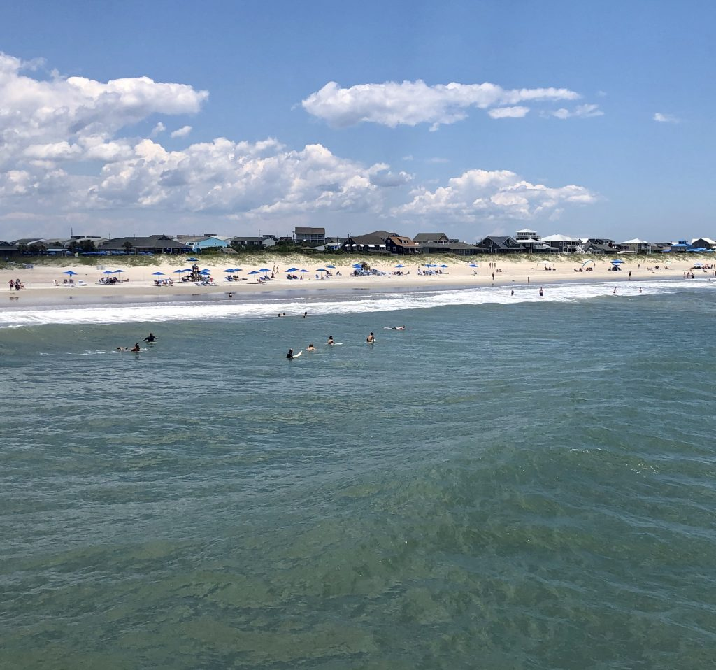 view of atlantic beach nc from oceanana pier