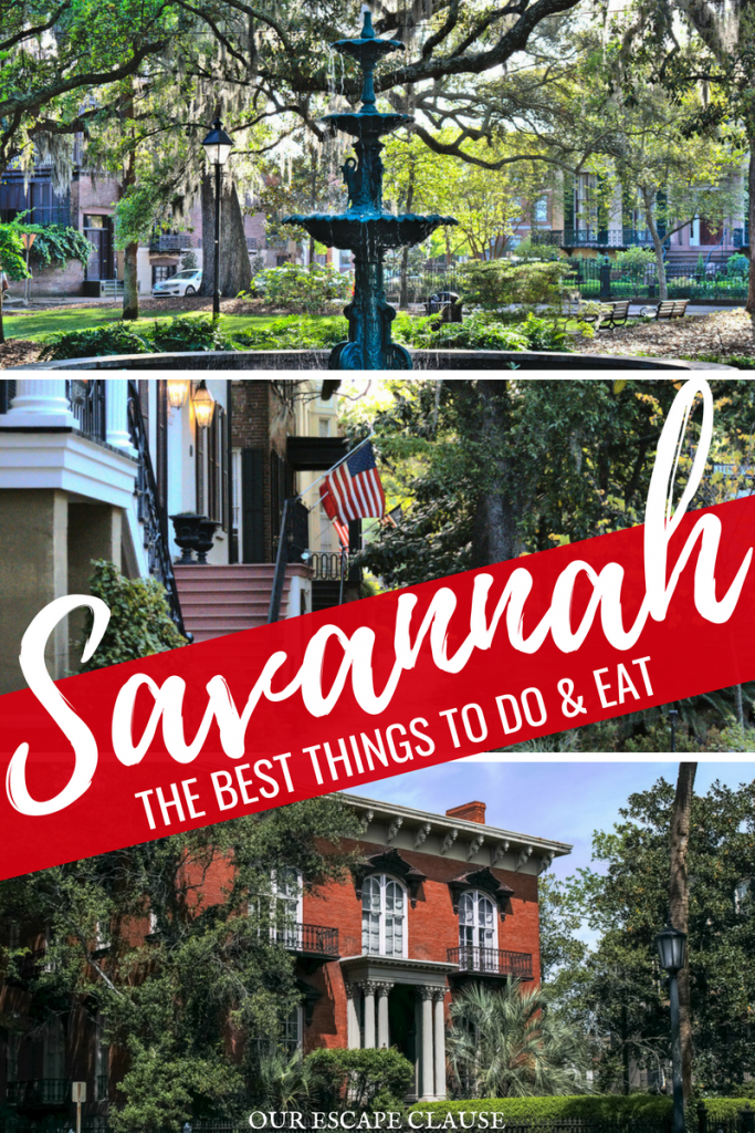 The Best Things to Do in Savannah: everything you need to know! #savannah #georgia #travel #usa #southerntravel #thesouth
