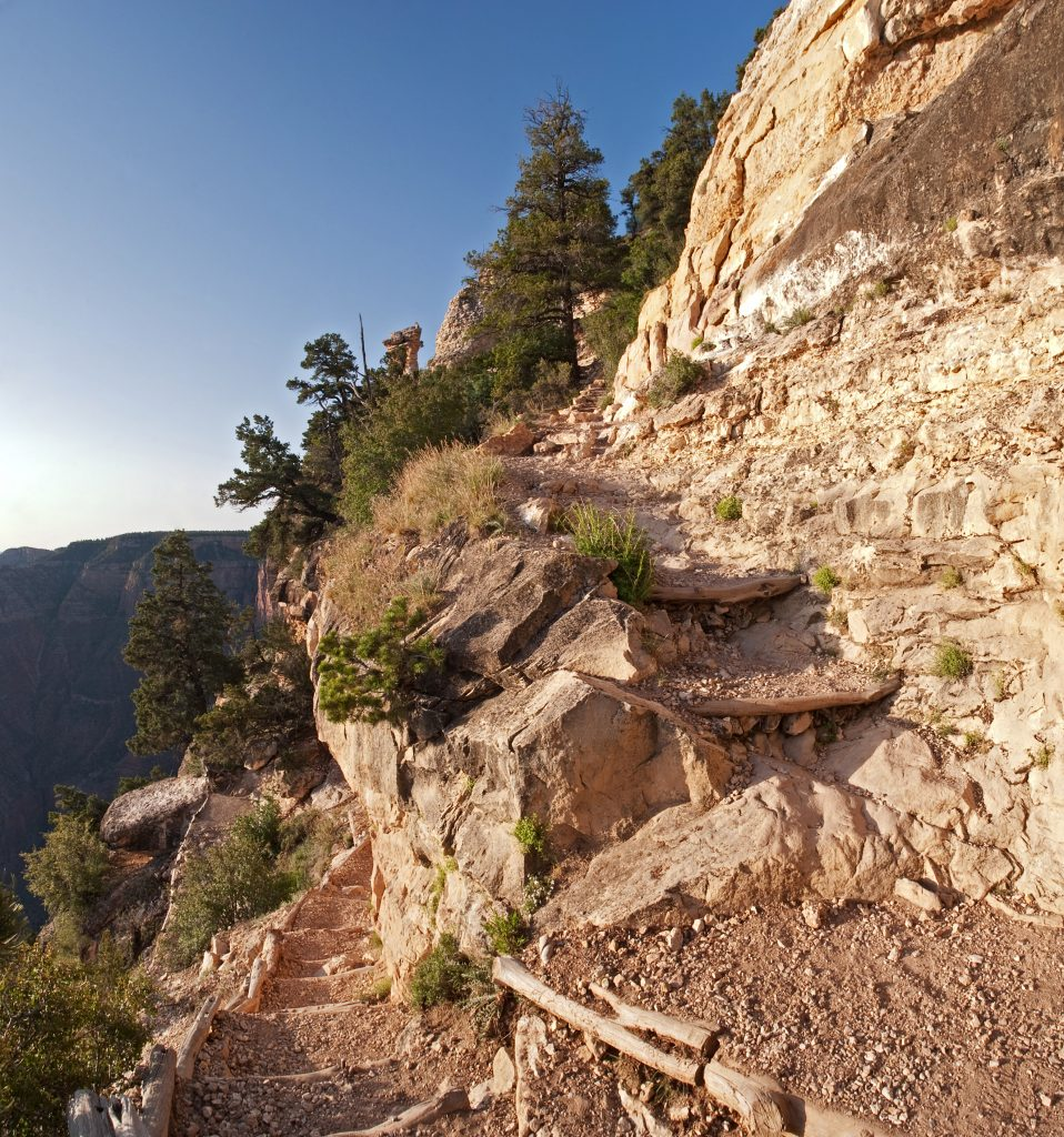 switchback on the grandview hiking trail grand canyon south rim