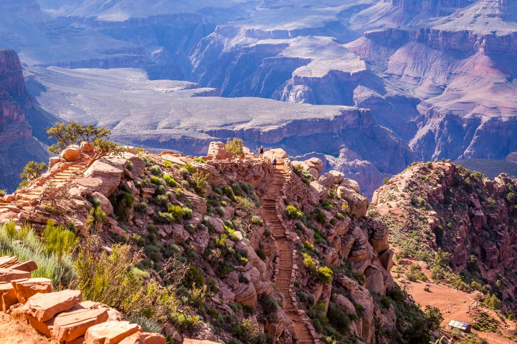 grand canyon as seen from south kaibab, one of the best grand canyon hikes south rim