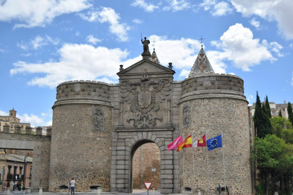 Puerta de Bisagra as seen on a Toledo day trip from Madrid