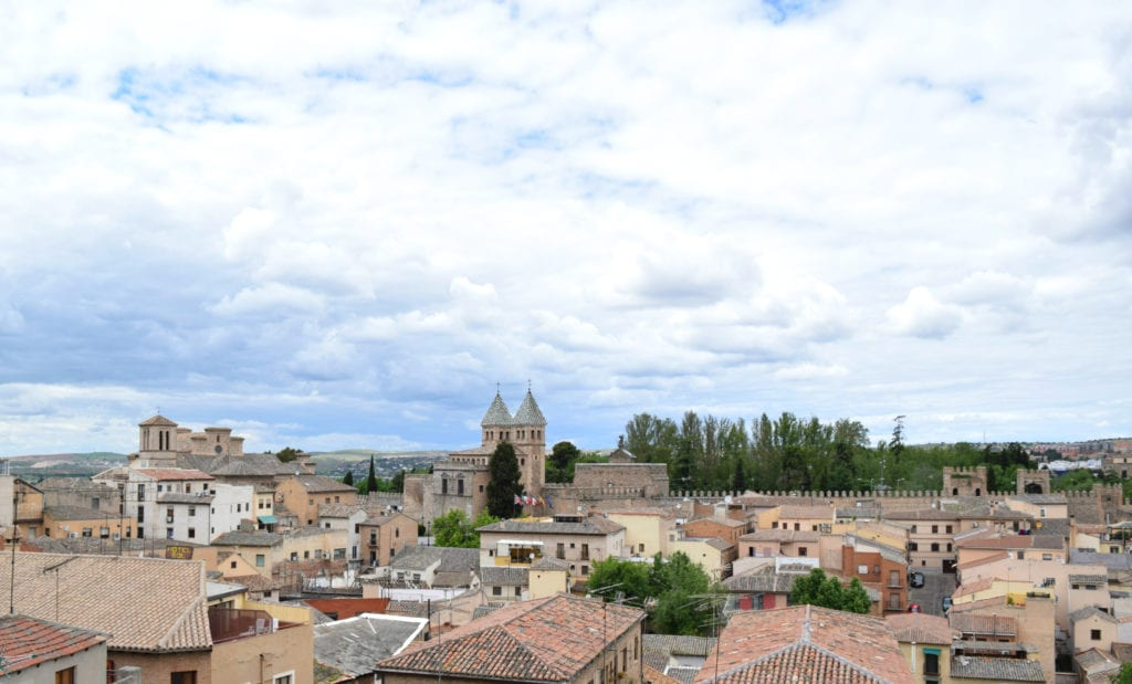 Photo of the rooftops of Toledo Spain as seen on a day trip to Toledo from Madrid