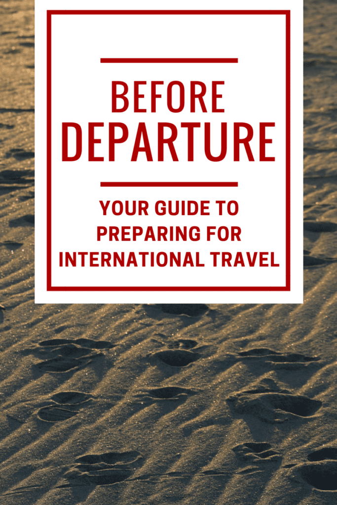 Preparing for International Travel