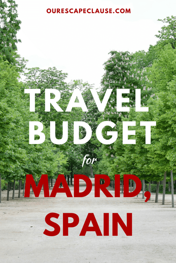 Travel Budget for Madrid, Spain
