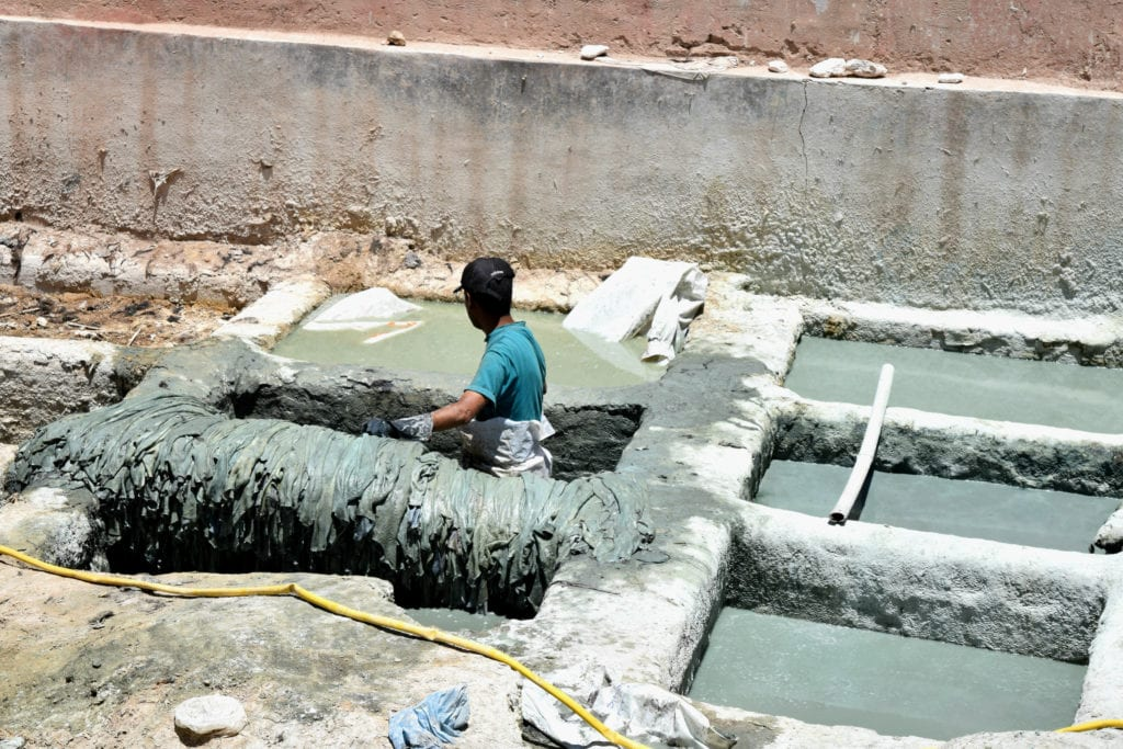 Marrakech Tannery Scam: Blue Dye