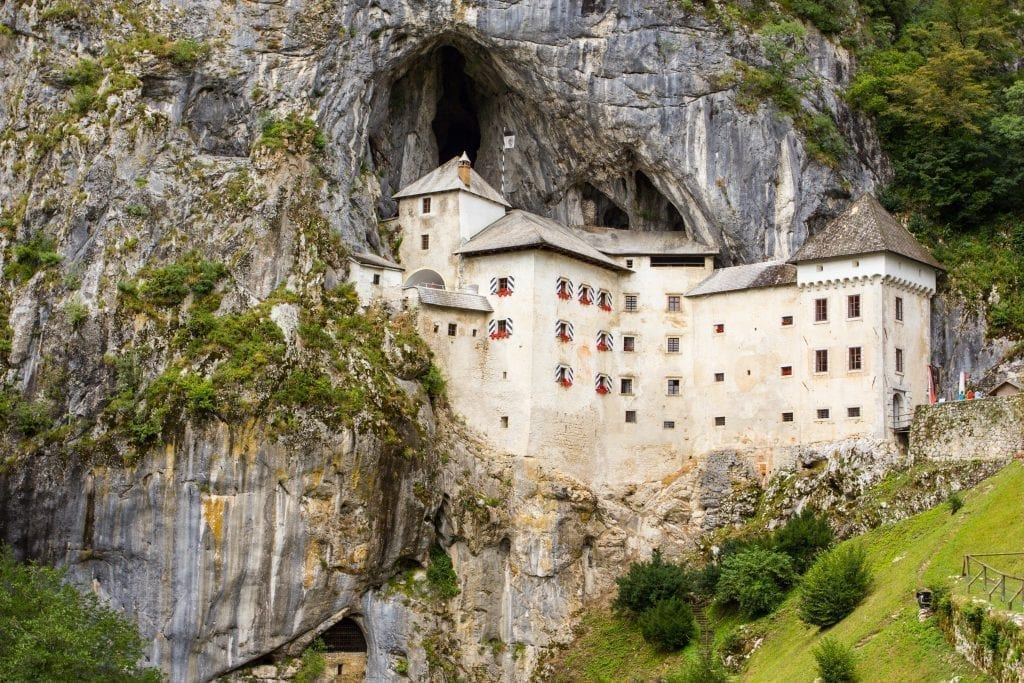 Predjama Castle in Slovenia, situated at the mouth of a cave, one of the most beautiful places in Slovenia