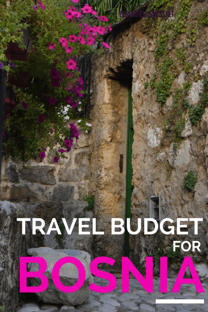 travel budget for bosnia