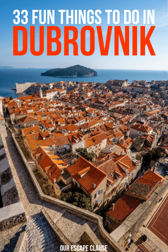 Incredibly fun things to do in Dubrovnik, Croatia: the ultimate bucket list for the city! #dubrovnik #croatia #travelcroatia #gameofthrones #balkans #balkanstravel