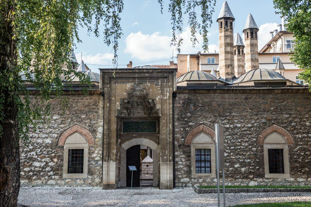 stone walls of Gazi Husrev-beg madrasa
