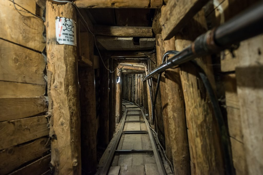 interior of sarajevo war tunnel, one of the best things to see in sarajevo