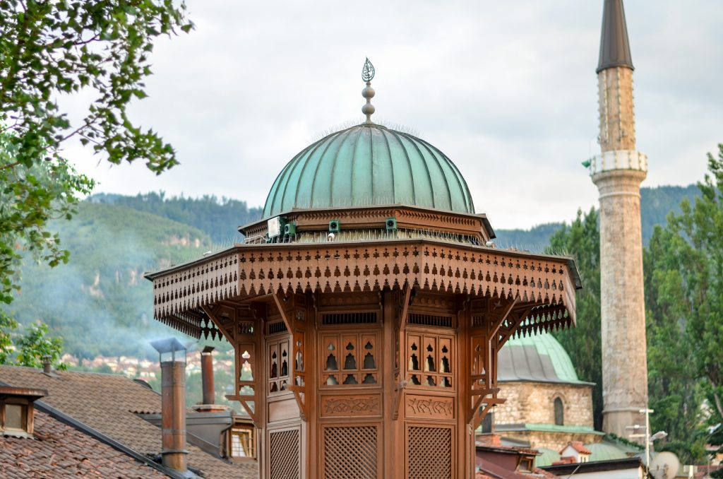 close up of sebilj fountain, one of the best places to visit in sarajevo bosnia and herzegovina