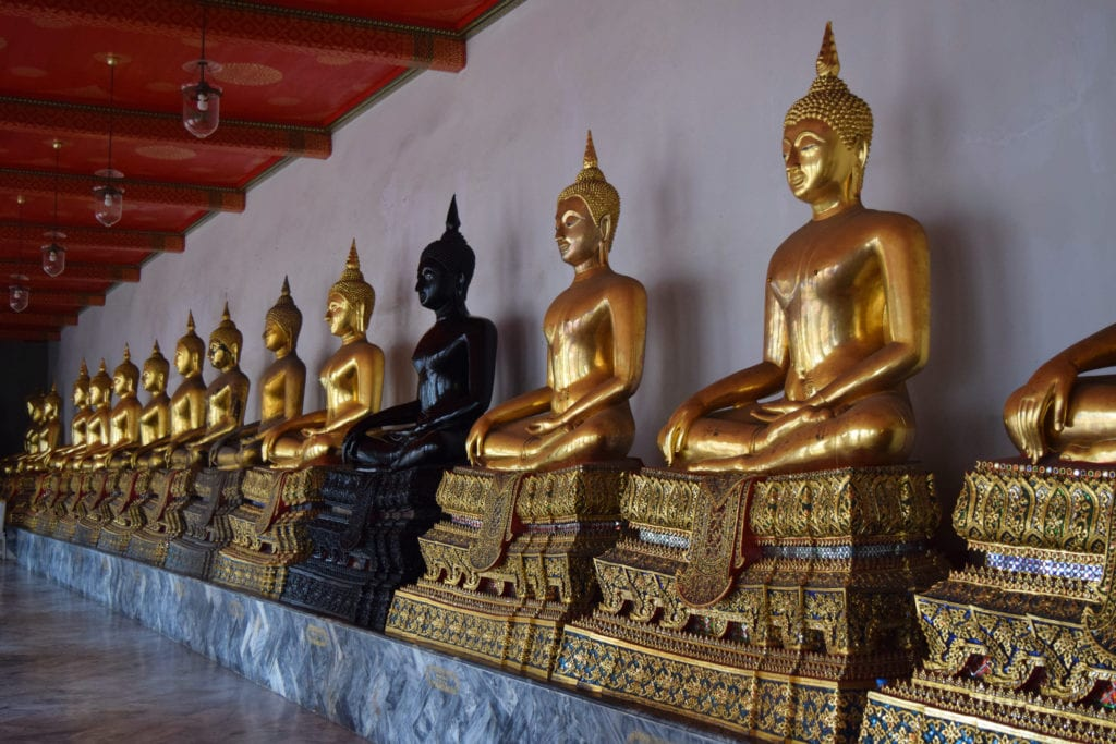 collection of gold buddhas wat pho bangkok thailand--be sure to check this temple out your first time in bangkok