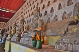 collection of buddhas at wat si saket, one of the best things to do in vientiane laos