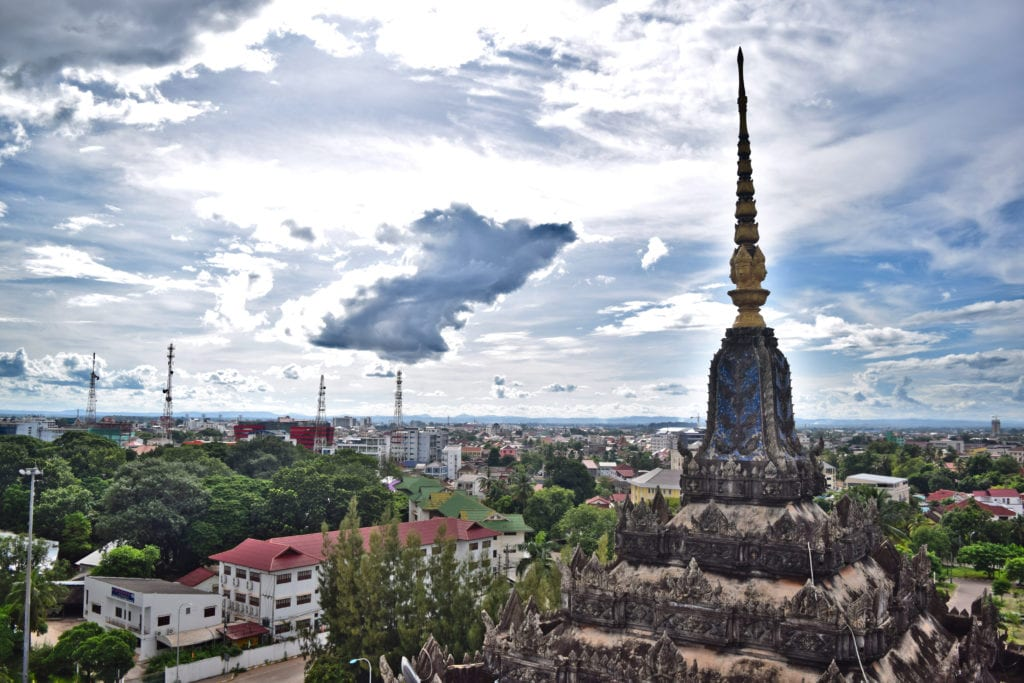 view of vientiane from the top of patouxi