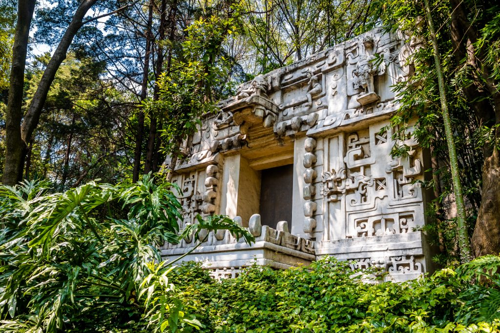 mayan temple displayed at the anthropology museum, a must-see during 3 days mexico city travel guide