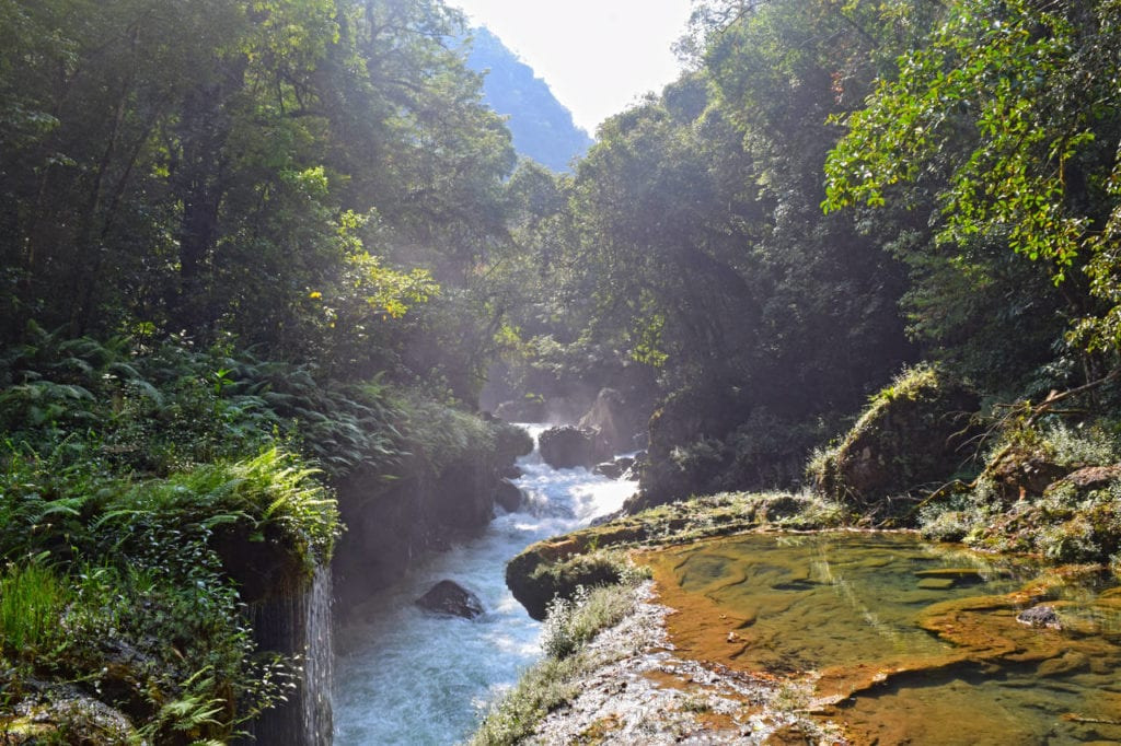 Getting to Semuc Champey: Waterfalls