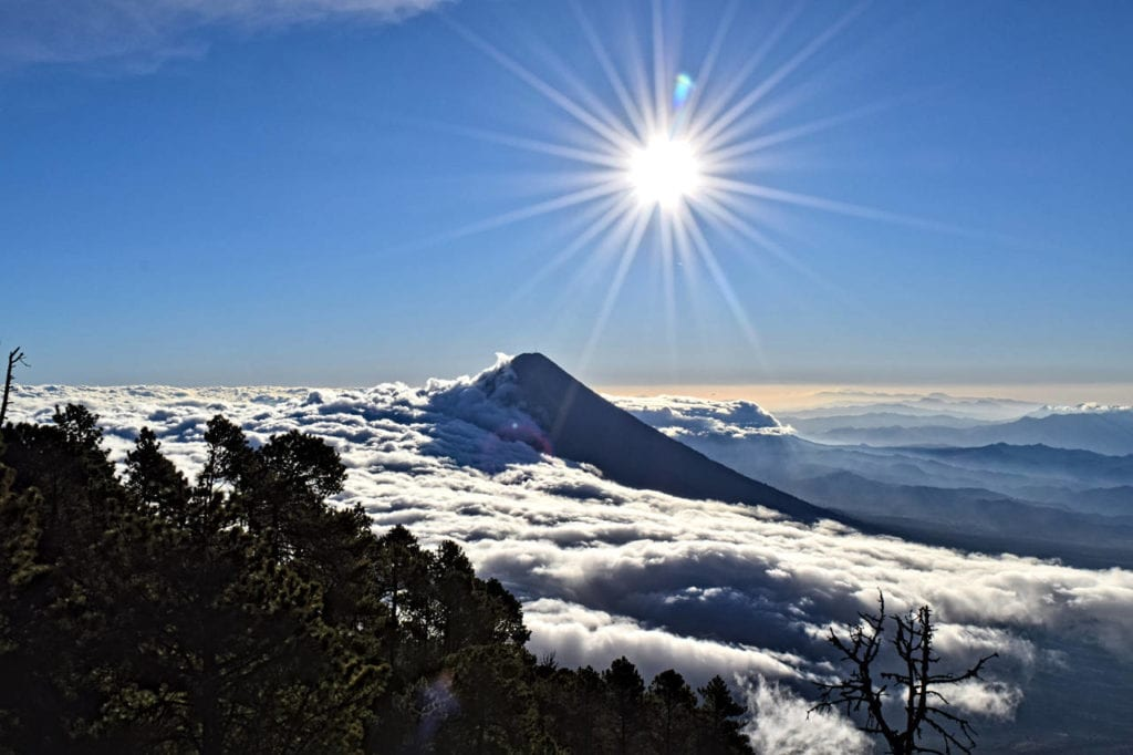 Two Weeks in Guatemala: Sunrise over Volcano Acatenango