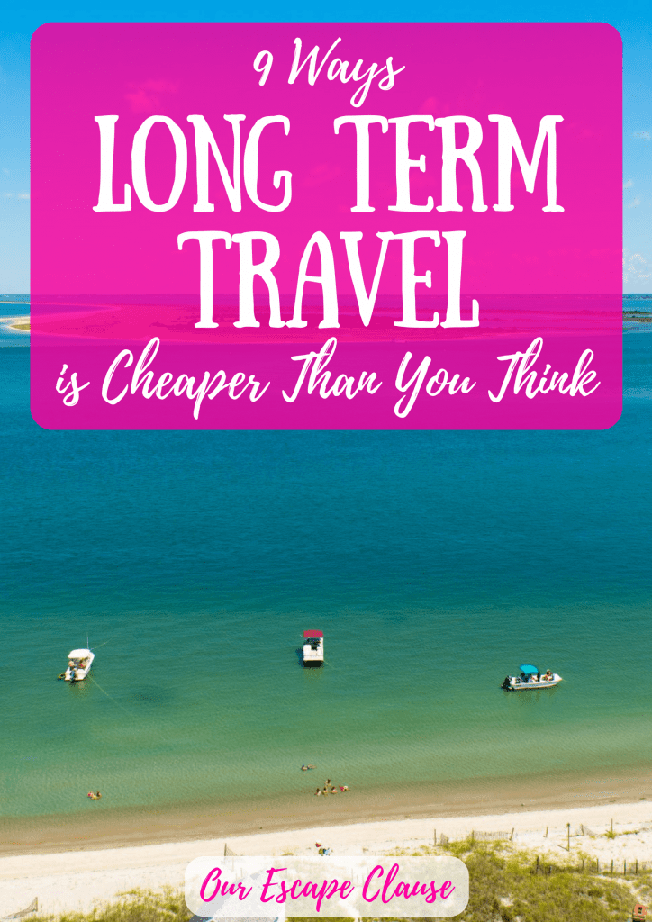 Long Term Travel is Cheaper Than You Think
