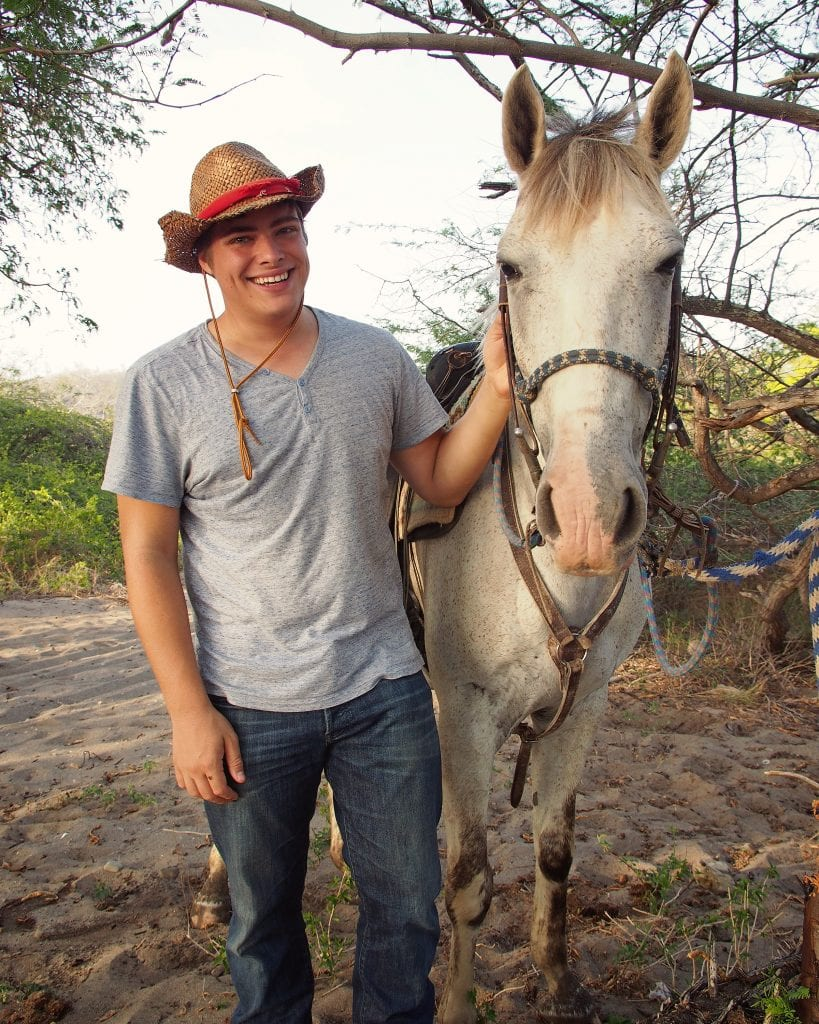 Packing List for Central America and Mexico: Man with Horse on Beach