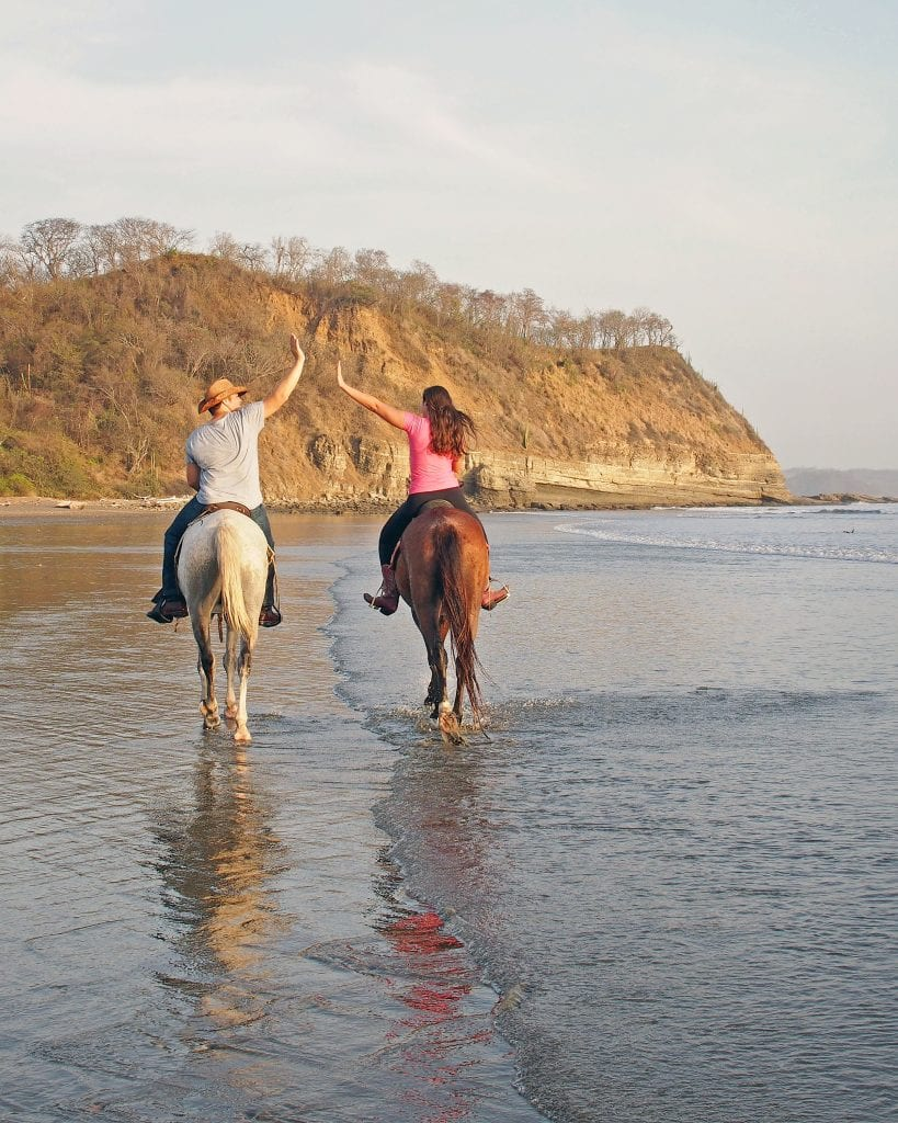 kate storm and jeremy storm riding horses nicaragua beach