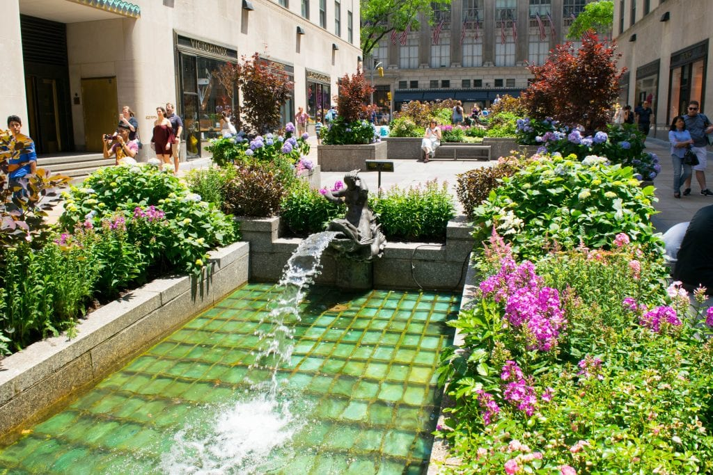 Fountain near Rockefeller Center--you'll walk right by here during your quest to see NYC in a day!