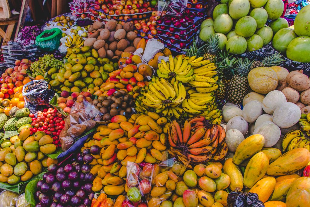 tropical fruit for sale, typical to what you'll see during an itinerary guatemala in 2 weeks