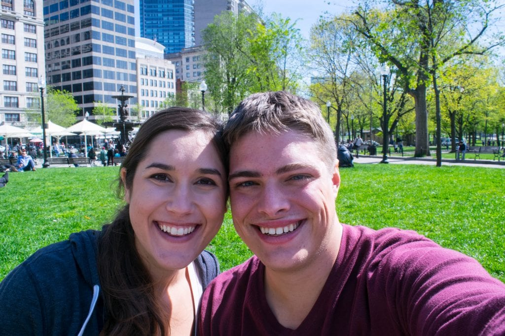 2 Days in Boston Itinerary: Selfie in the Park