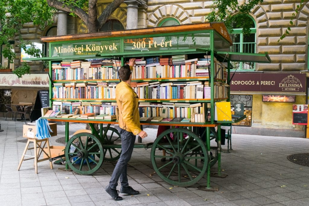 3 Days in Budapest Itinerary: Book Cart