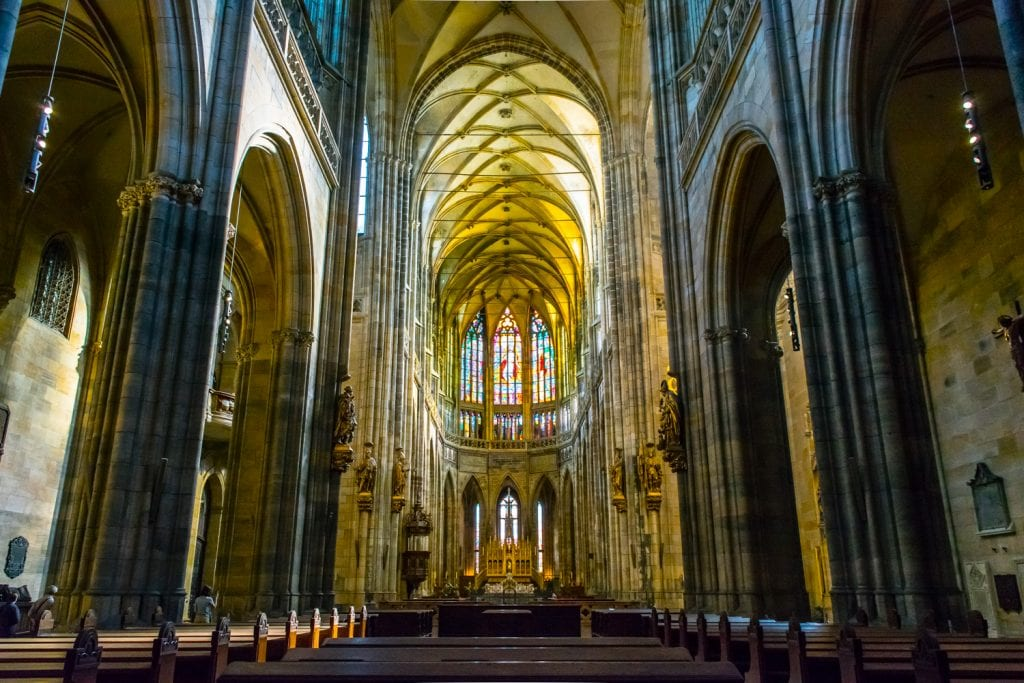 Travel Budget for Prague: Interior of St. Vitus Cathedral