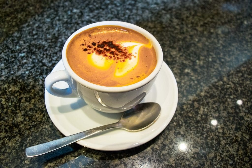Things to Eat in Florence: Mercato Centrale Cappuccinno