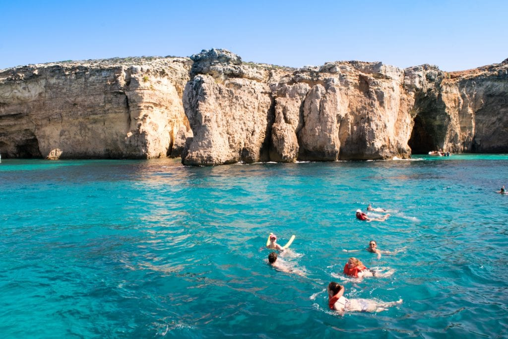 Things to Do in Malta: Crystal Lagoon