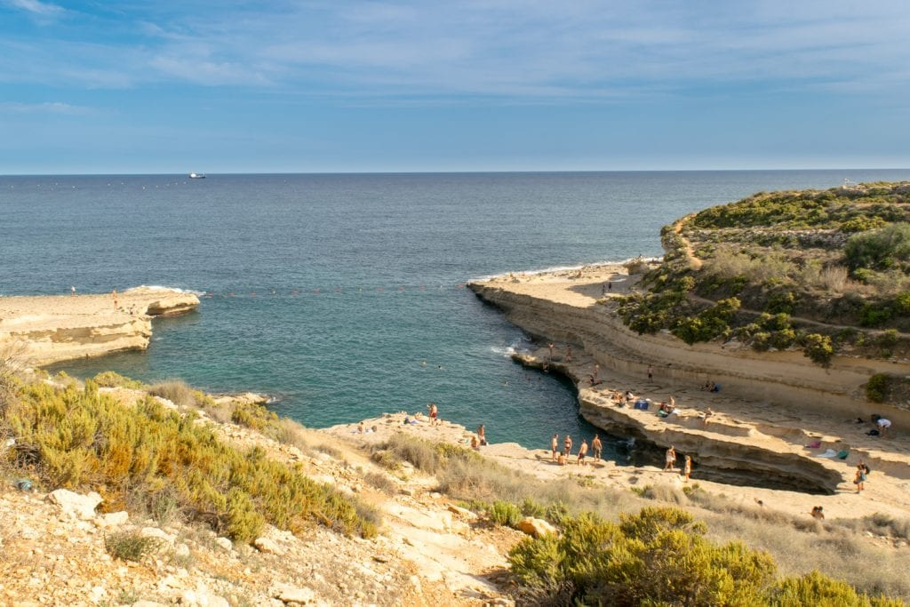 Things to Do in Malta: St. Peter's Pool