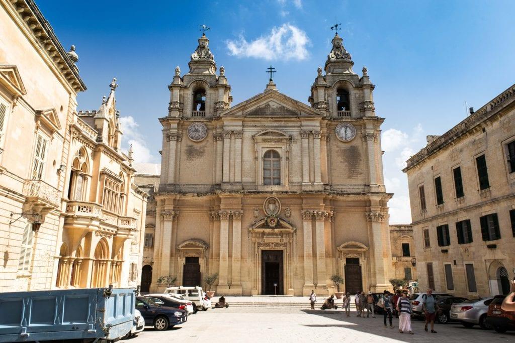 view of church in mdina malta