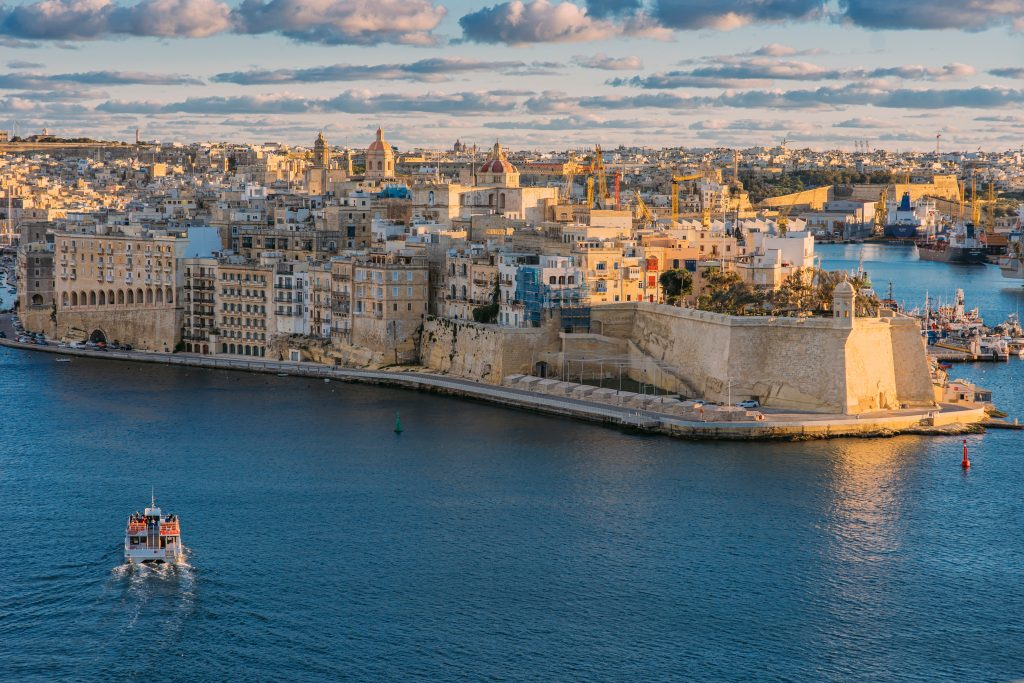 aerial view of the three cities, one of the best things to do in malta