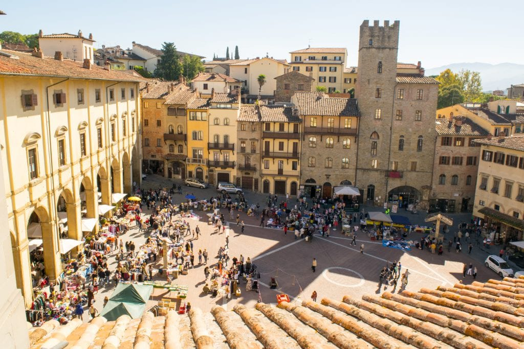 Best Day Trips from Bologna: Arezzo Main Square