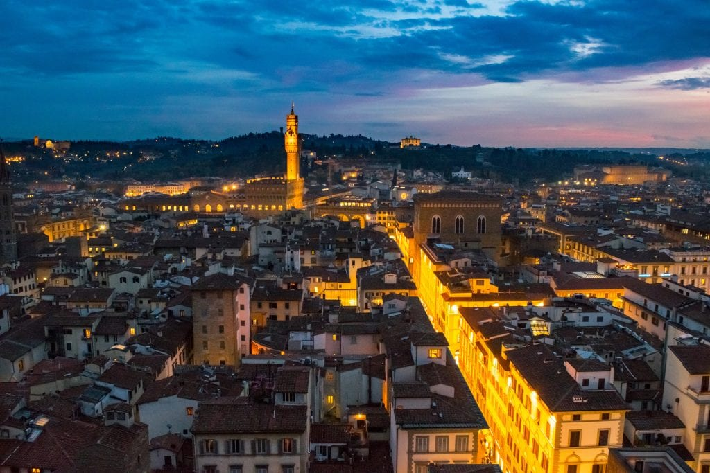 Romantic Things to Do in Tuscany: Sunset over Florence