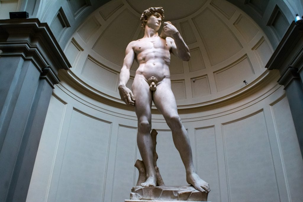 Statue of David as seen as part of a 2 day Florence itinerary