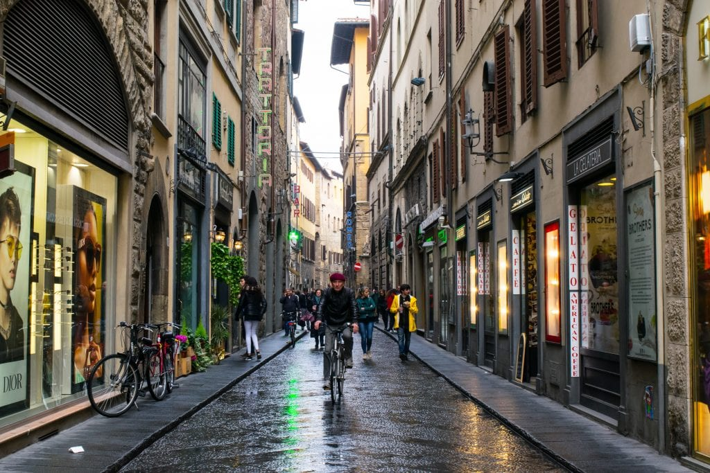 Romantic Things to Do in Tuscany: Tuscan streets in rain