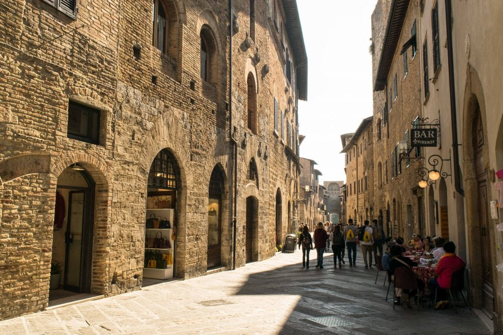 Best quotes about Italy: streets of San Gimignano