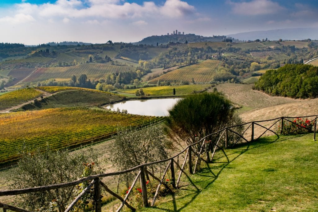 Honeymoon in Tuscany: Views of Tuscan Countryside