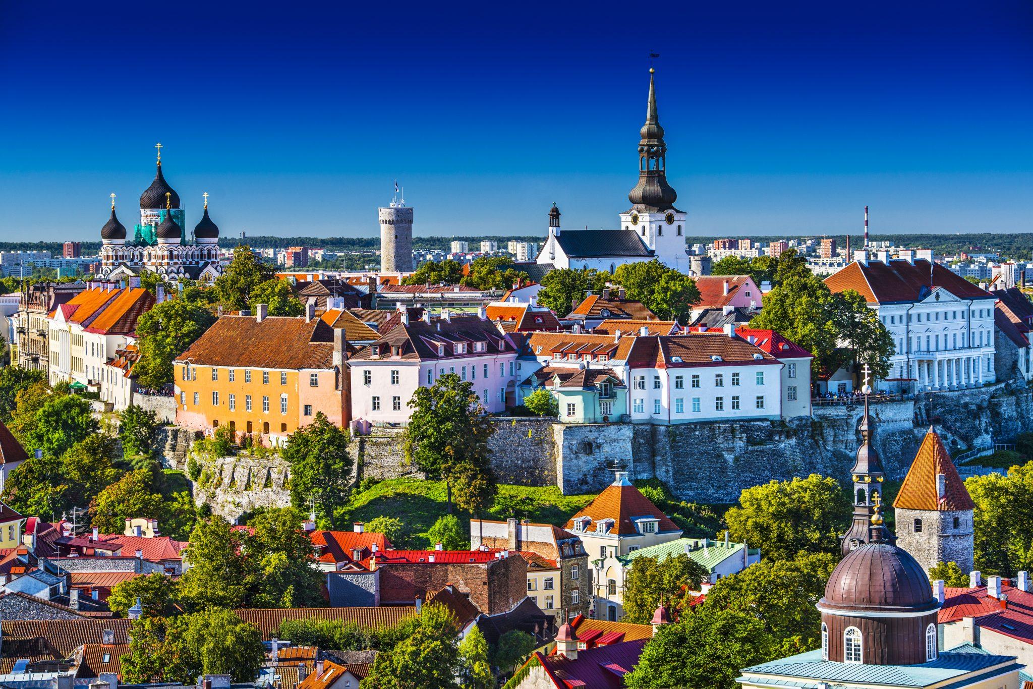 the beautiful skyline of tallinn estonia, an offbeat and cheap european destinations to visit