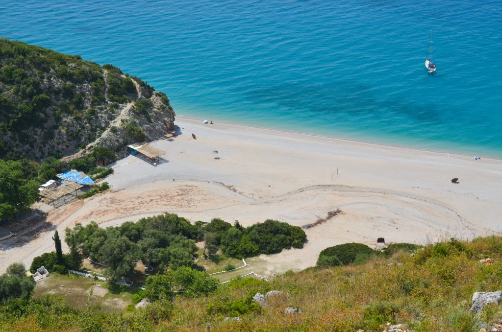 beautiful beach along the albanian rivieria in vlore albania, one of the cheapest places to visit in europe