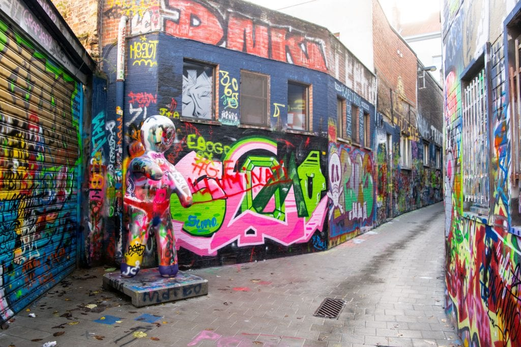 Ghent or Bruges: Ghent Graffiti Street