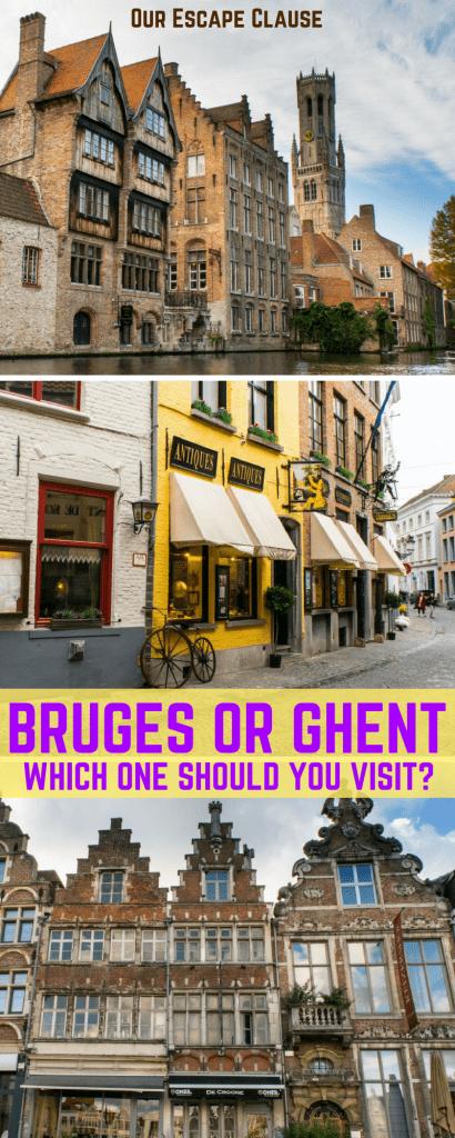 Ghent or Bruges, Gent or Brugge
