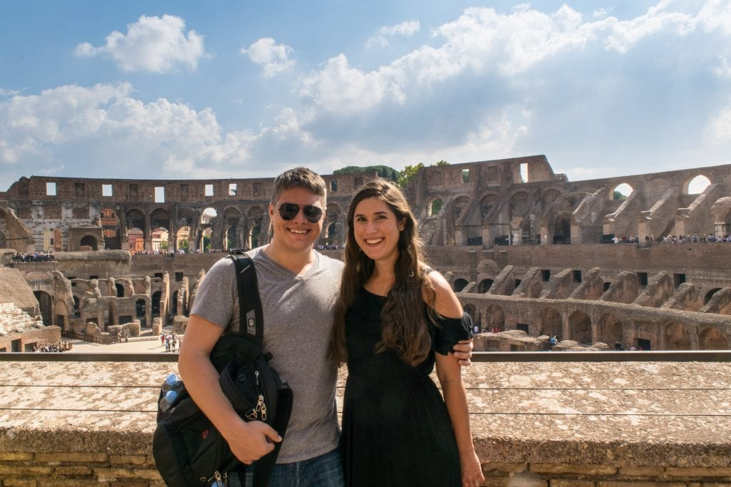 2 Days in Rome: Couple Inside Colosseum