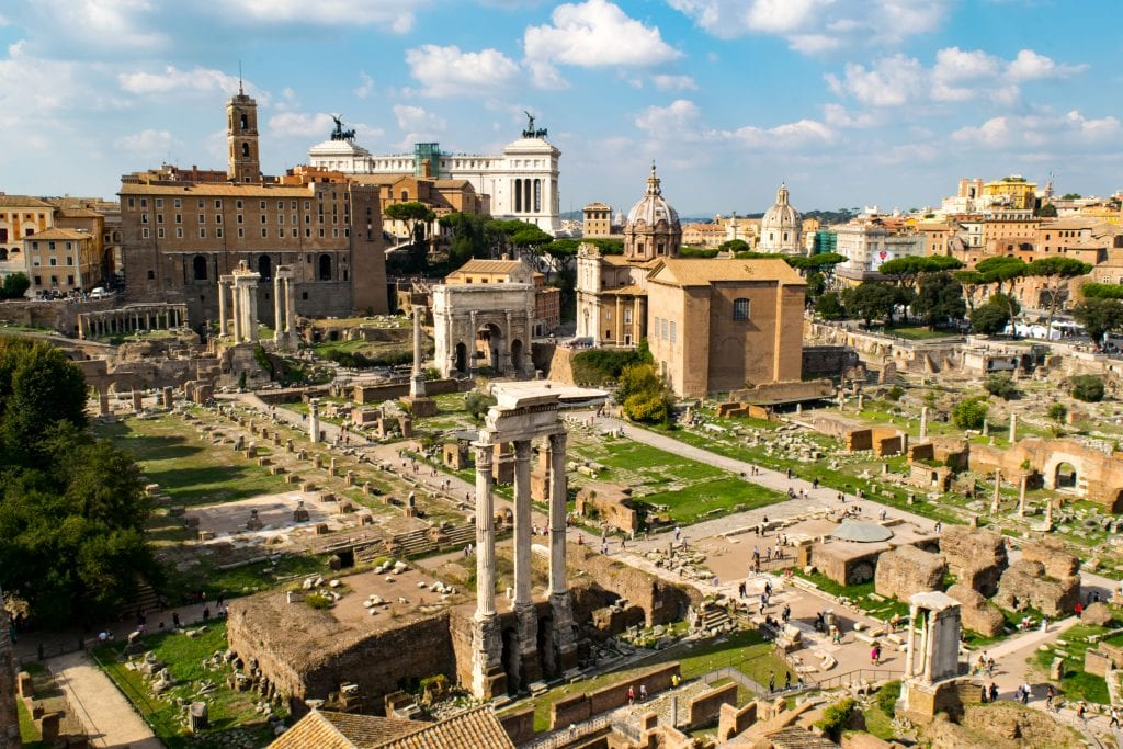 2 Days in Rome: View of Roman Forum
