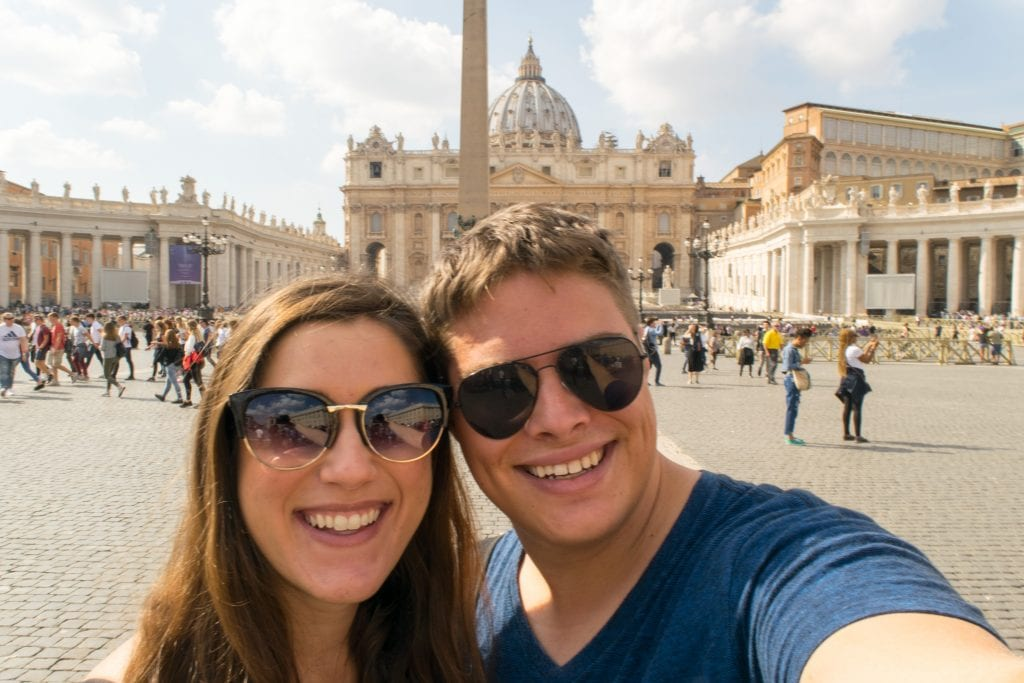 Selfie in St Peter's Square, One Day in Rome