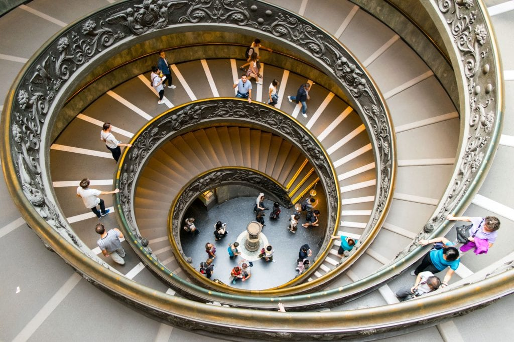 4 Days in Rome Itinerary: Spiral Staircase in the Vatican